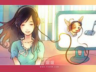 Sweet Painting : A Girl and Her Puppy10 pics