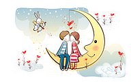Young Love - Valentine Cute Couple illustrations40 pics