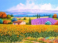 Dreamy Provence - Jean Marc Janiaczyk Landscape Paintings 21 pics