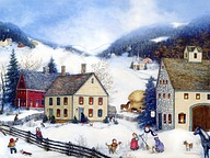 Charming Americana Villages - American Folk Art by Linda Nelson Stocks 12 pics