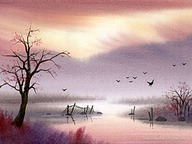 The Dreamland - Water Colour Landscape Paintings 50 pics